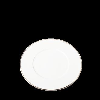 Lunchbord Plane gouden biesje Ø 23 cm