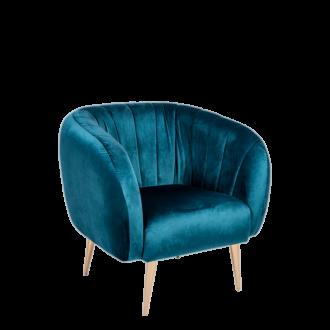 Fauteuil Juliette bleu vert P 78 x L 84 cm H 85 cm