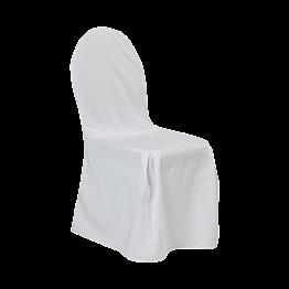 Hôtel stapelstoel met ecru hoes