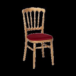 Gouden Napoleon stoel  met bordeaux zit