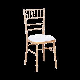 Natura stoel met witte fluwelen zit