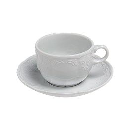 Tasse et sous-tasse à thé 22cl Grand Siècle
