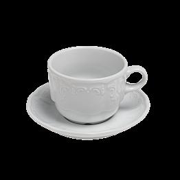 Tasse et  sous-tasse  à café 18cl Grand Siècle