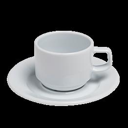 Tasse et sous-tasse  à café 20cl Blanche
