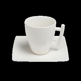 Vierkante koffietas 20cl  Squito met ondertas