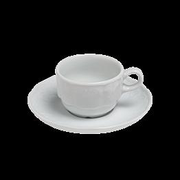 Tasse et sous-tasse à moka 10cl Grand Siècle