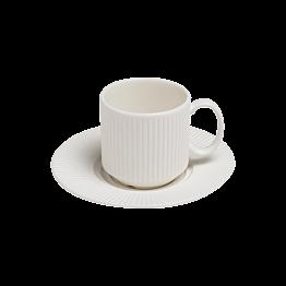 Tasse et sous-tasse à moka 10cl Ginseng