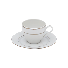 Tasse et sous-tasse à moka 10cl Silver