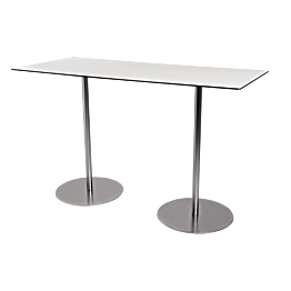 Table haute Brio blanche 180 x 75 cm H 108 cm