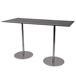 zwarte hoge tafel Brio 180 x 75 cm H 108 cm