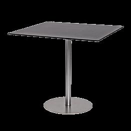 Table Brio noire 75 x 75 cm