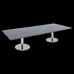 zwarte lage tafel Brio 180 x 75 x H 40 cm