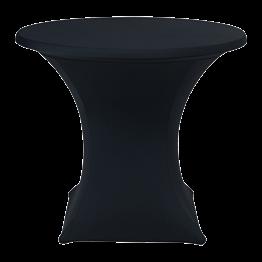 Table ronde Ø 85 cm houssée stretch noir H 75 cm
