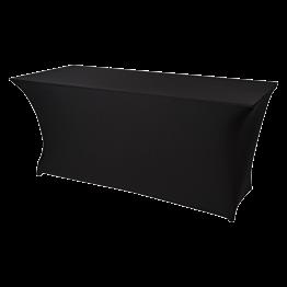 Table buffet 200 x 90 x H 90 cm houssée stretch noir