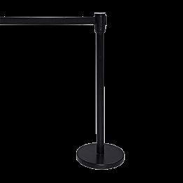 Potelet enrouleur noir - Sangle noire 2 m