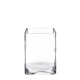 Vierkante vaas 14 x14 cm H 20 cm