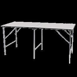 Plooibare tafel in inox 200 x 80 cm H 90 cm