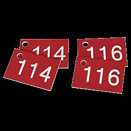 Vestiairenummers per paar