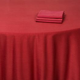Serviette rouge brique 50 x 50 cm
