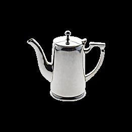 Zilveren koffiekan met deksel   1L