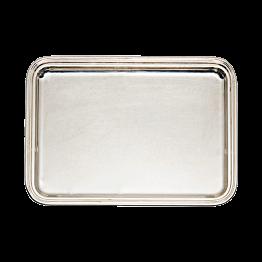 Zilveren rechthoekig dienblad  40x30cm
