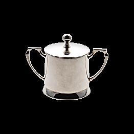 Zilveren suikerpot met deksel