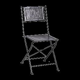 Chaise en fer forgé & cuir (sans patin)