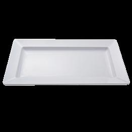 Witte opdienschaal in melamine 50 x 27 cm