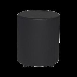 Pouf Monroe noir Ø 40 cm H 48 cm
