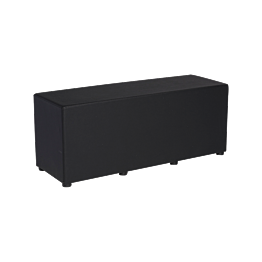 Pouf Taylor noir 120 x 40 x H 48 cm