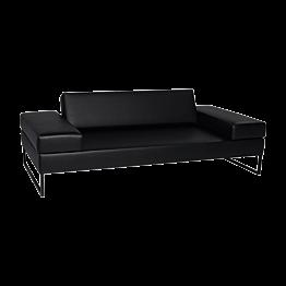 Canapé Happy Hour noir 205 x 100 x H 53 cm