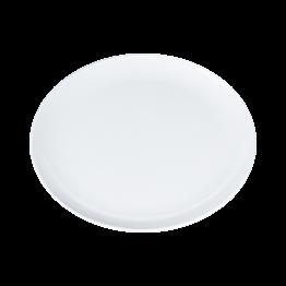 Plat rond blanc en mélamine Ø 40,5 cm