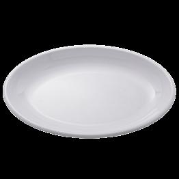 Plat ovale blanc en mélamine 50 x 36 cm