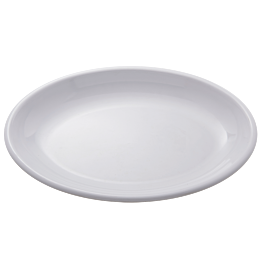 Ovale opdienschaal in melamine 50 x 36 cm