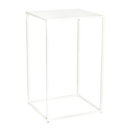 Table haute Quadra blanche 60x60xH108cm