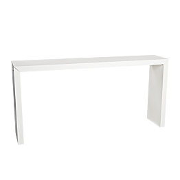 Table Titan blanche en alu 230 x 70 x H 110 cm
