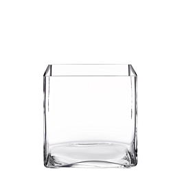 Vierkante vaas 20 x 20 cm H 20 cm