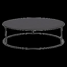 Table basse Luna noire Ø 90cm H27cm