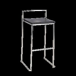 Tabouret Cubic assise noire H 74 cm