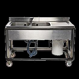 Dubble spoelbak met boiler 10 L 220 V