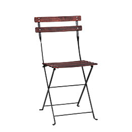Chaise Simplex à lattis en bois acajou