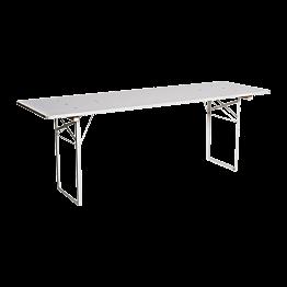 Witte biertafel 220 x 70 cm