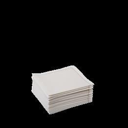 Serviettes tissu écru 2 plis 20 x 20 cm (par 30)