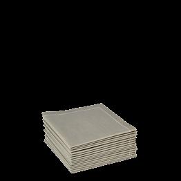 Serviettes tissu chaume 2 plis 20 x 20 cm (par 30)