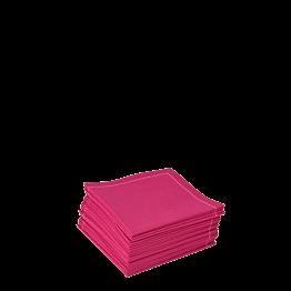 Serviettes tissu fuchsia 2 plis 20 x 20 cm (par 30)