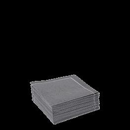 Serviettes tissu anthracite 2 plis 20 x 20 cm (par 30)