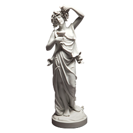 Statuette Biscuit Pomona H 31 cm - Ø 9 cm