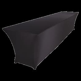 Double table buffet 400 x 90 x H 90 cm houssée stretch noir