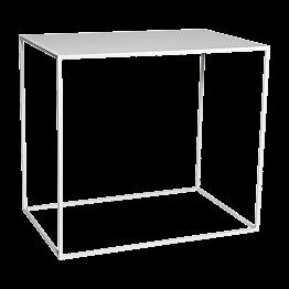 Witte hoge tafel Quadra 120x80cm stapelbaar