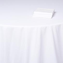 Nappe Alaska coton blanc uni 290 x 400 cm